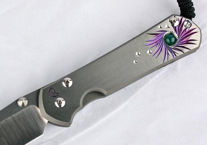 Фото 5 - Нож складной Chris Reeve Large Sebenza 21 Agate Cabochon, сталь CPM-S35VN, рукоять титан