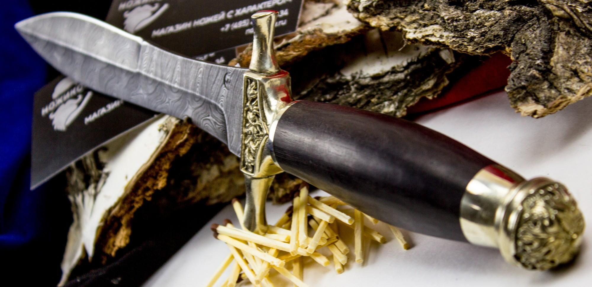 Нож Адмирал, дамасская сталь