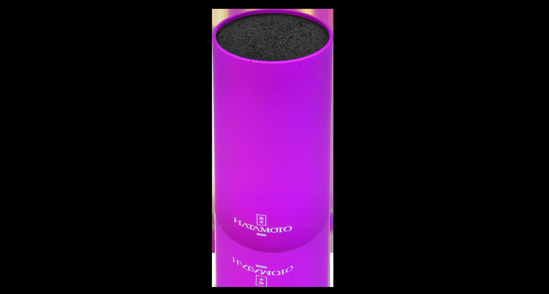 Подставка для ножей круглая HATAMOTO COLOR, фиолетовая, пластик, 110*225ммTojiro<br>Подставка для ножей круглая HATAMOTO COLOR, голубая, пластик, 110*225мм<br>