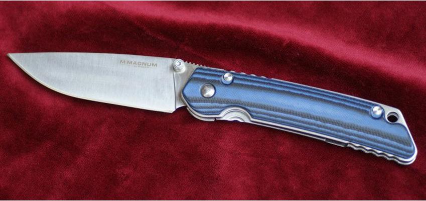 Фото 6 - Нож складной Magnum B & B, сталь 440A Satin Plain, рукоять стеклотекстолит G10, Boker 01SC948