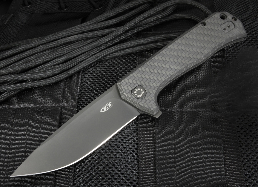 Нож складной Todd Rexford Design KVT® Flipper, DLC-coated Titanium / Carbon Fiber Handle, DLC-coated Blade нож складной t r e three rapid exchange ikbs® flipper orange g10 matte titanium handle