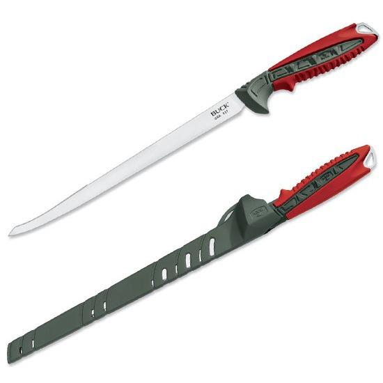 Нож филейный Buck Clearwater B0027RDSНожи филейные<br>Нож предназначен для отрезания тонких и ровных кусков мяса или рыбы. Небольшая ширина полотна позволяет избегать сминания и прилипания продукта к лезвию. Благодаря гибкости лезвия, можно снять тонкую кожу, отделить филе рыбы от костей.<br>
