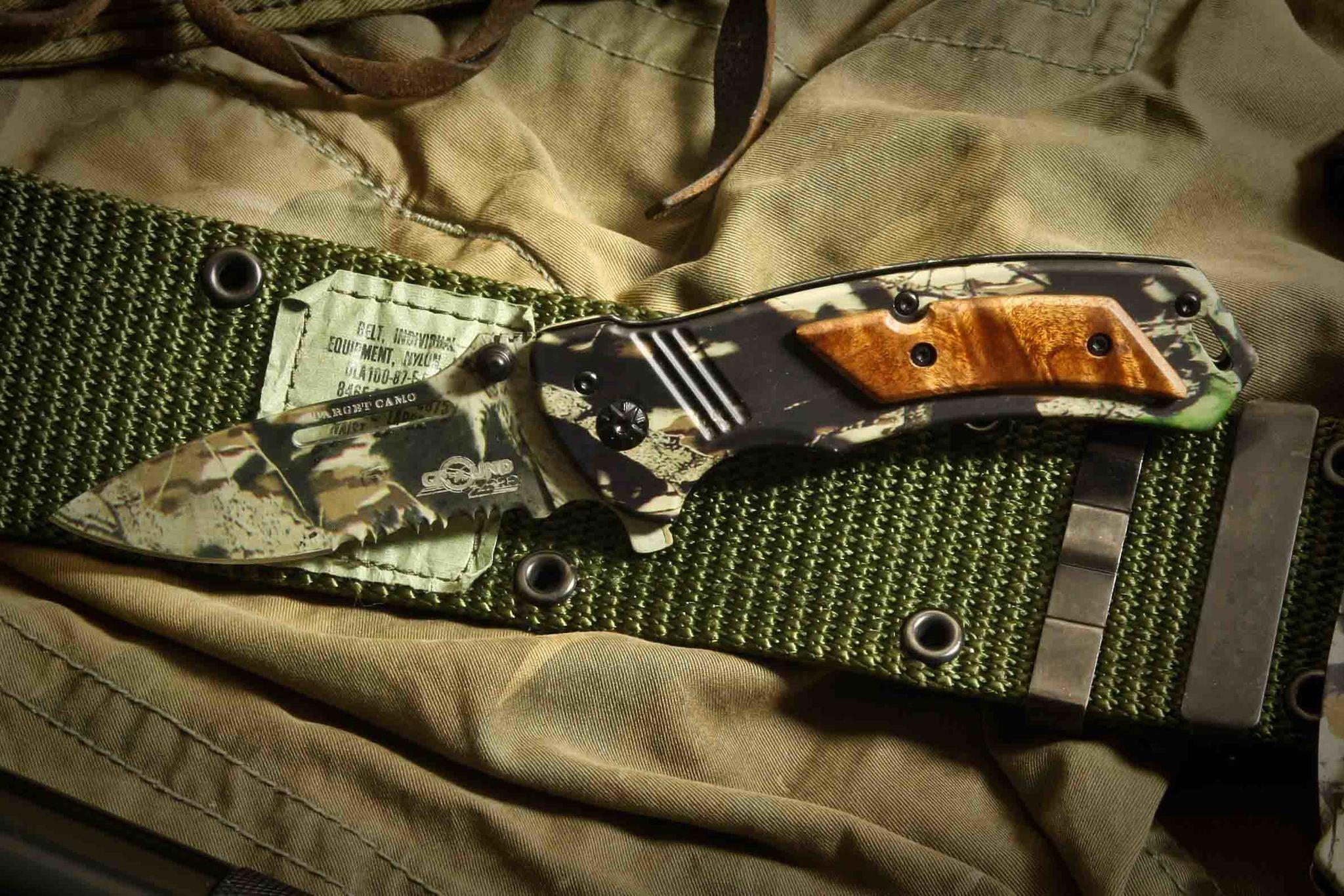 Фото 2 - Складной нож Target Camo от Ground Zero