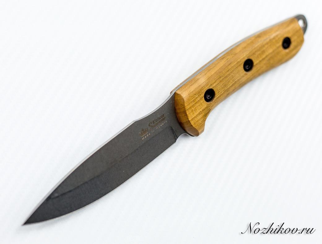 Фото 9 - Туристический нож Corsair AUS-8 Satin+SW, Kizlyar Supreme, орех
