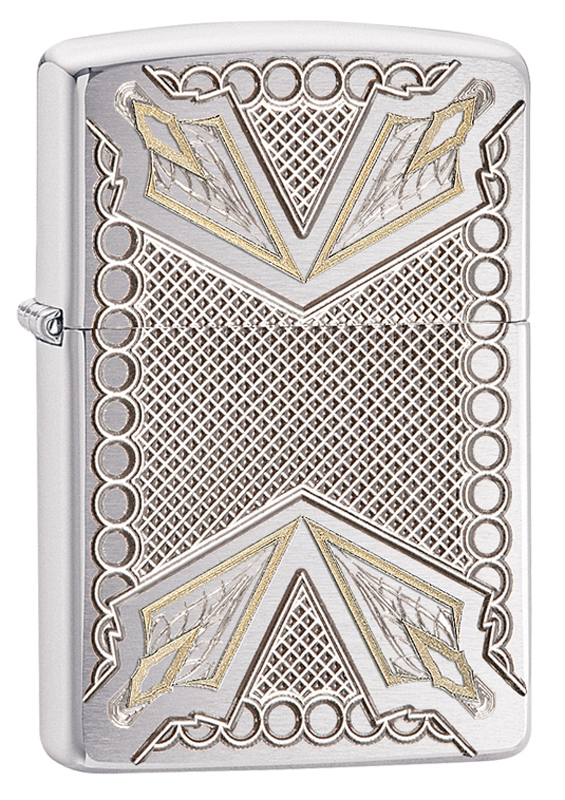 Зажигалка ZIPPO Armor™ с покрытием Brushed Chrome 0 3kw 300w er11 3000 12000rpm dc brushed spindle motor