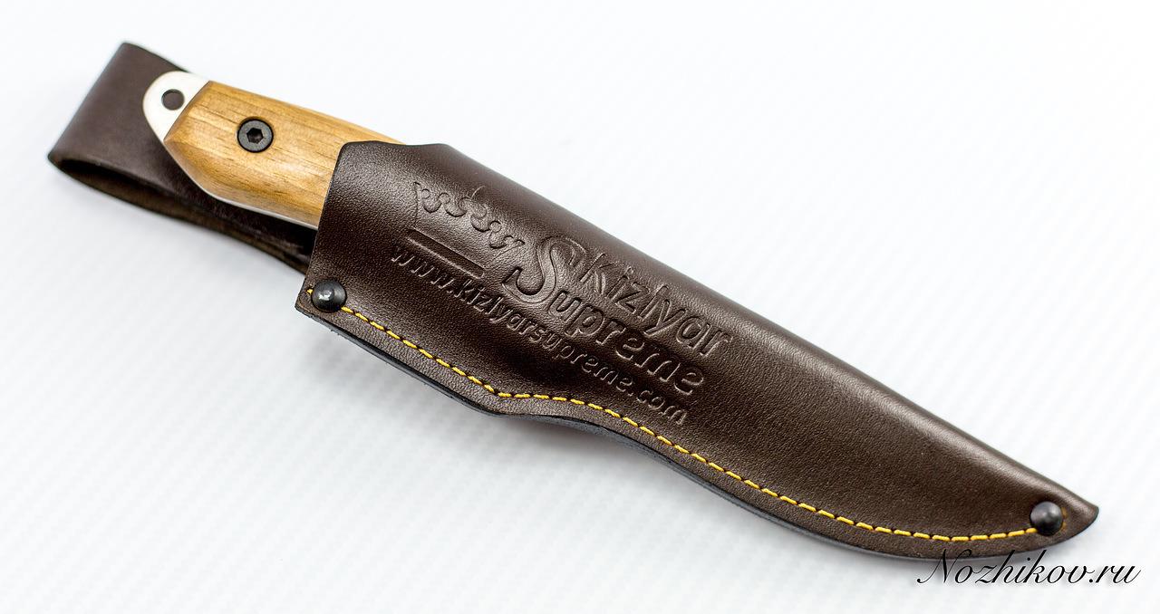 Фото 10 - Туристический нож Corsair AUS-8 Satin+SW, Kizlyar Supreme, орех