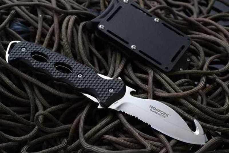 Фото 3 - Нож с фиксированным клинком подводный Norfolk Whitewater от CRKT