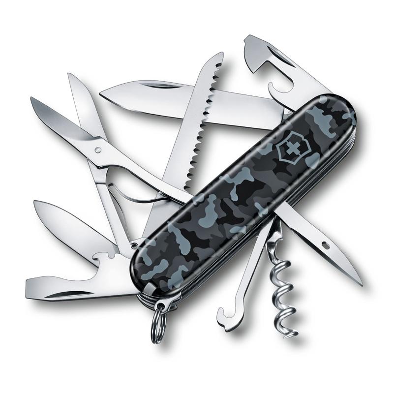 Фото - Нож перочинный Victorinox Huntsman 1.3713.942,91 мм, 15 функций, морской камуфляж