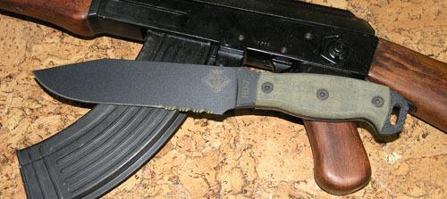 Нож с фиксированным клинком Ontario RD7 Blackmicarta, серейтор мачете ontario sp8