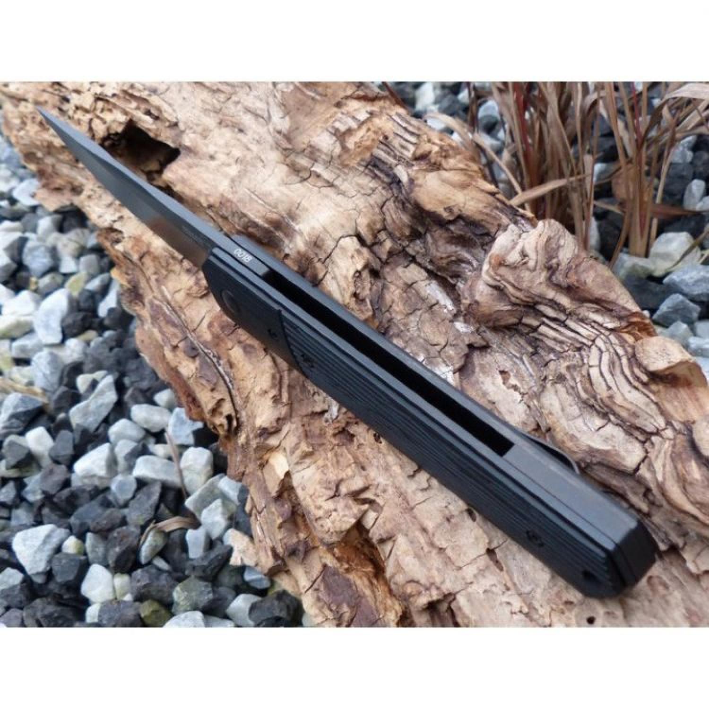 Фото 2 - Нож складной Kwaiken Folder Tactical (IKBS® Flipper), Boker Plus 01BO293, сталь VG-10 Acid Stonewashed Plain, рукоять стеклотекстолит G10, чёрный