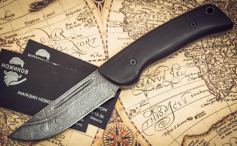 Складной нож Морвин, дамаск, граб - Nozhikov.ru