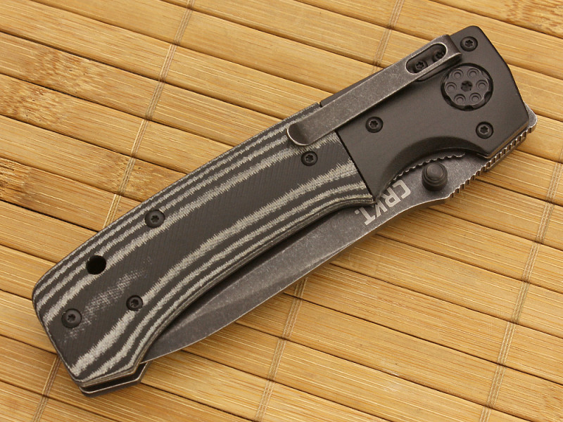 Фото 2 - Складной нож Ruger® Knives All-Cylinders™ Folder, Bill Harsey Design, Blackwashed Combo Blade, Two-tone Layered G-10 Handle от CRKT