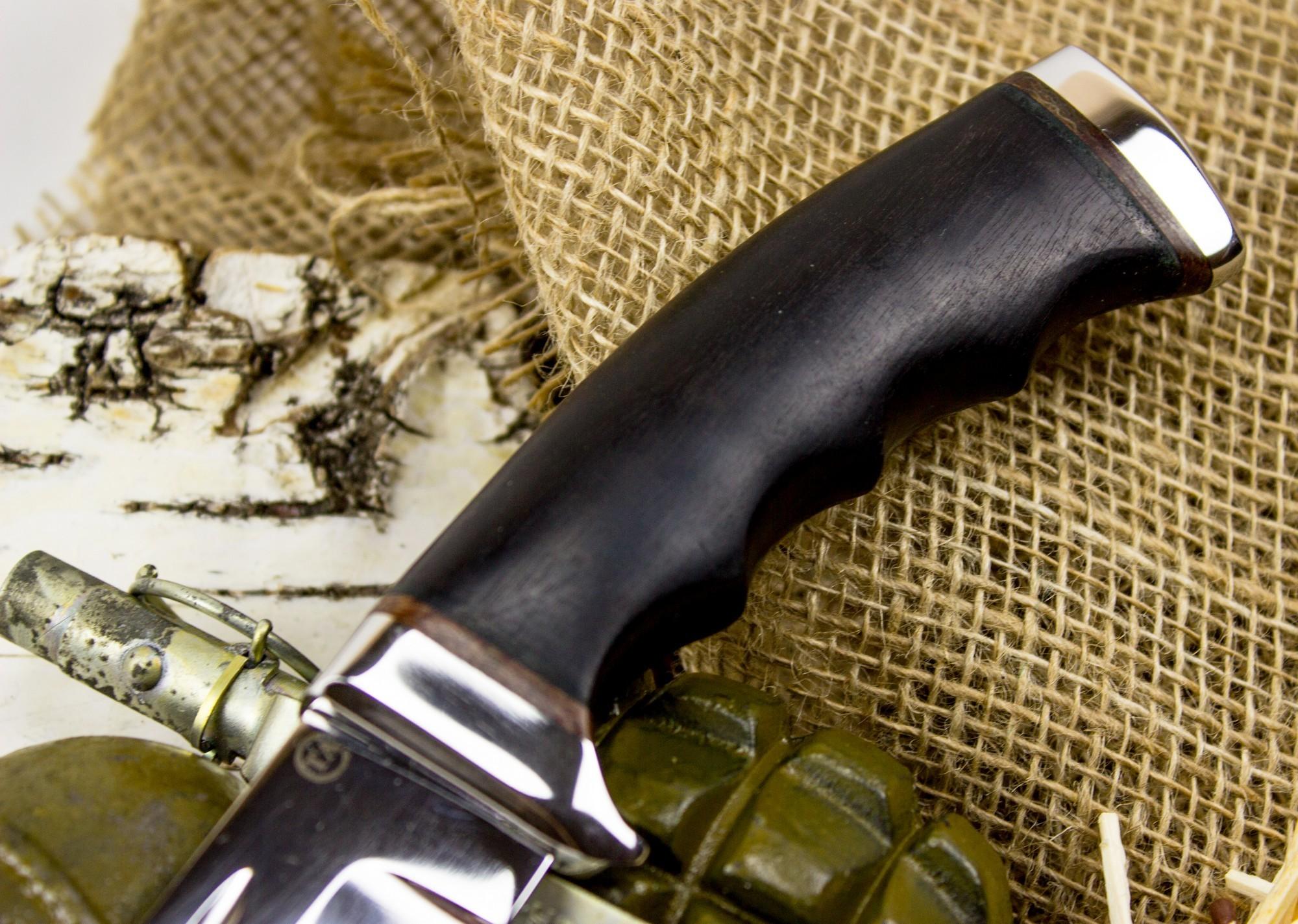 Фото 2 - Нож Солдат-1, сталь 95х18, граб от Титов и Солдатова