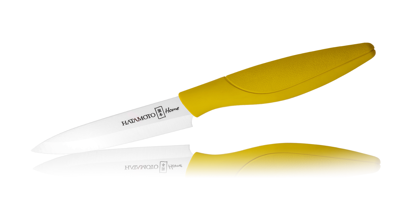 Керамический нож Hatamoto Home, 110мм, желтый