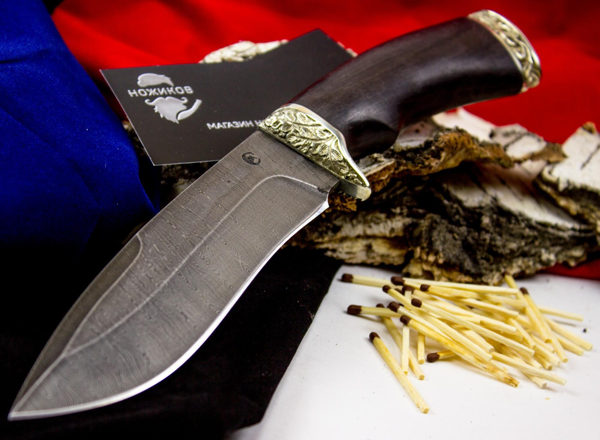 Фото 2 - Нож Скиф, дамасская сталь, рукоять граб от Кузница Семина