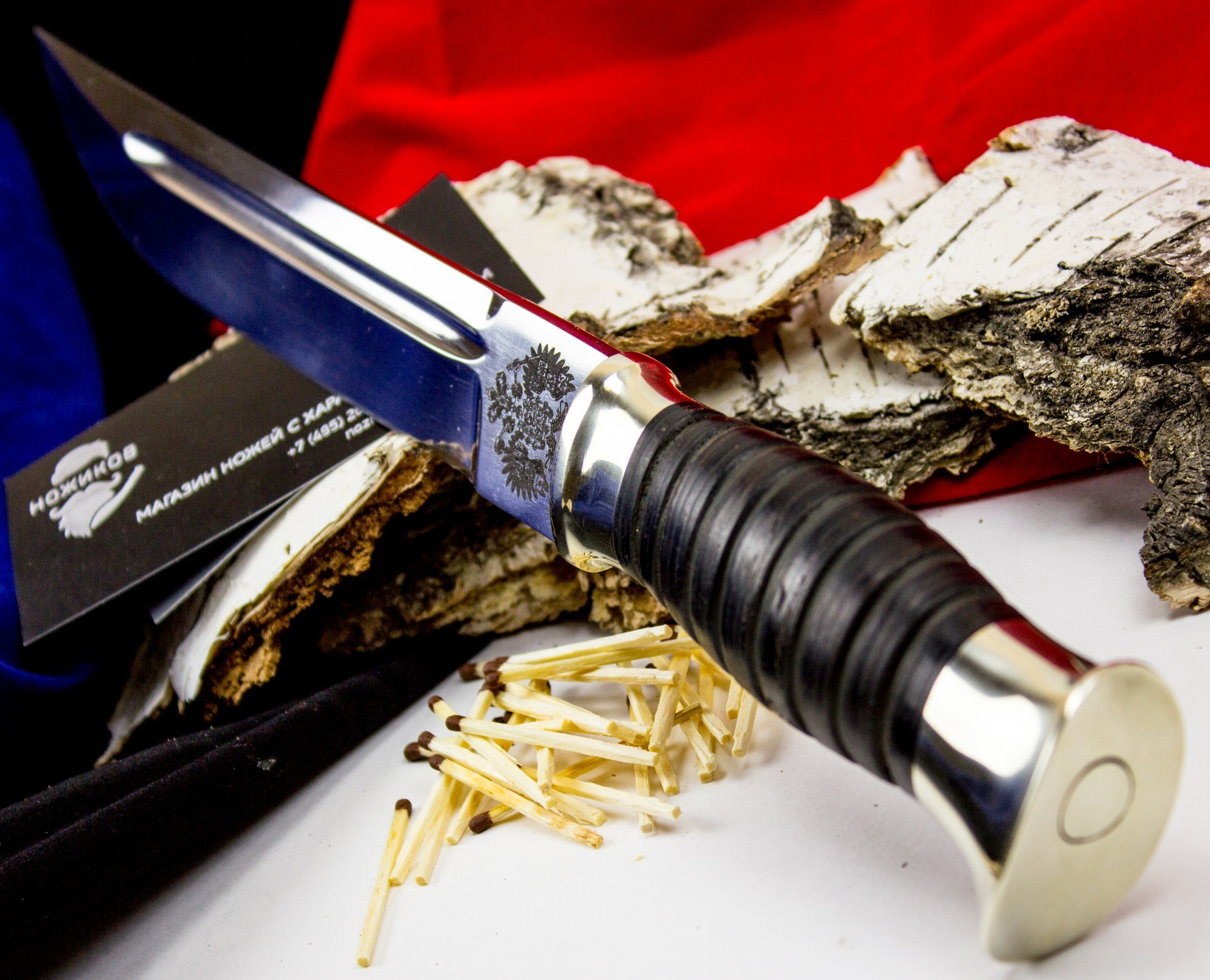 Фото 3 - Пластунский кованый нож Казак, Х12МФ, мельхиор от Кузница Семина