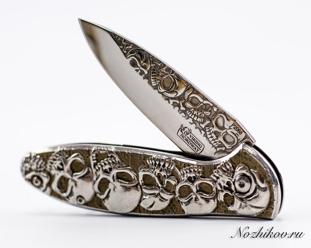 Фото 5 - Складной нож Черепушки от Viking Nordway