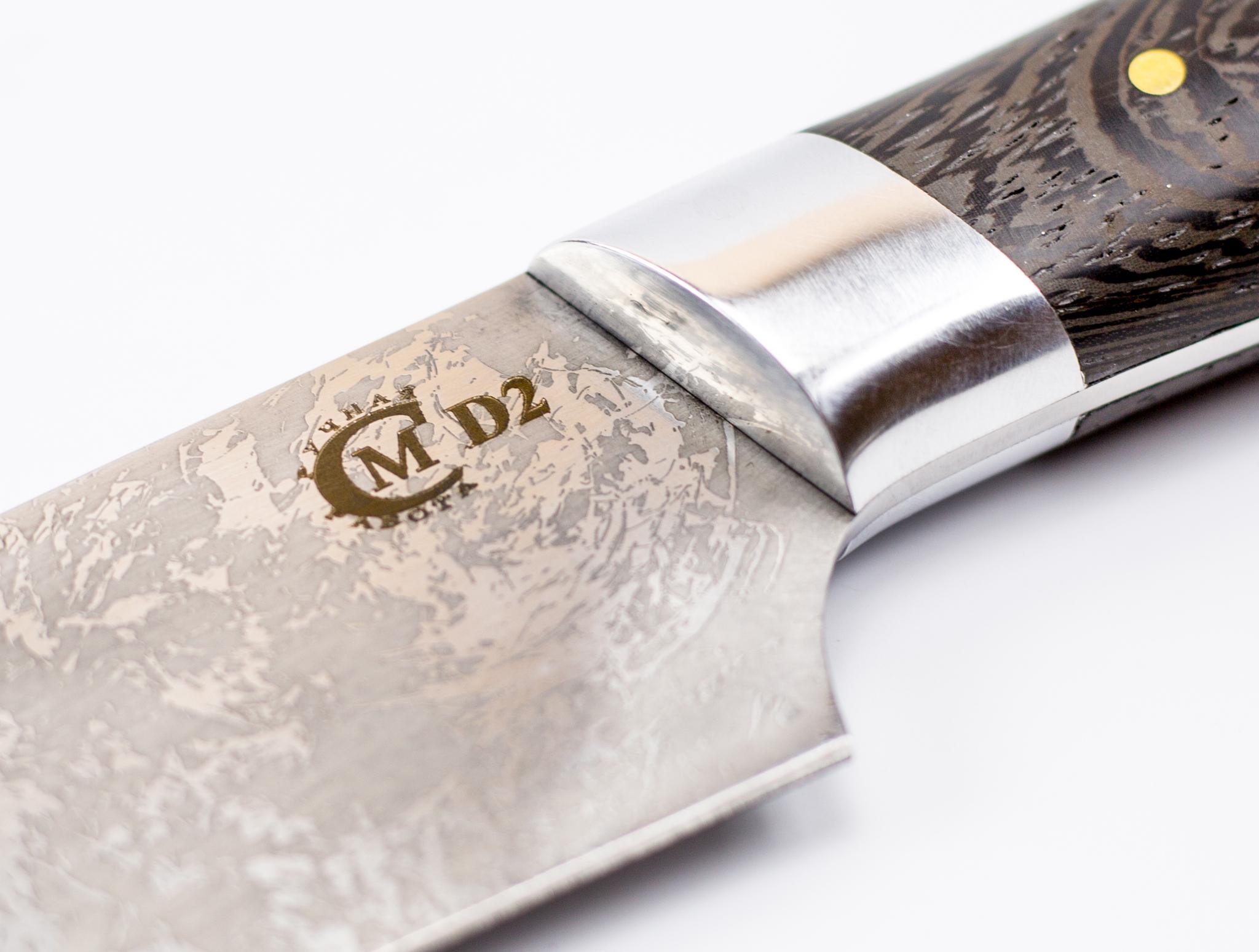 Фото 3 - Нож Шеф-повар, сталь D2, венге от Кузница Семина