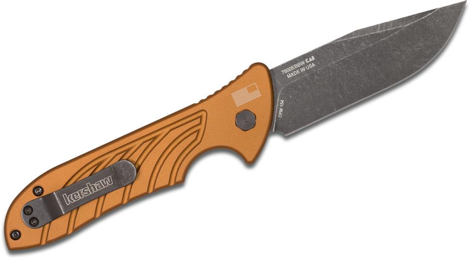 Фото 2 - Складной автоматический нож Kershaw Launch 5 Brown K7600EBBW, сталь CPM 154, рукоять алюминий