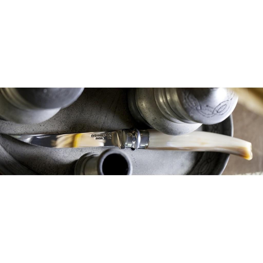 Нож складной филейный Opinel №10 VRI Folding Slim Blond Horn в деревянном кейсе