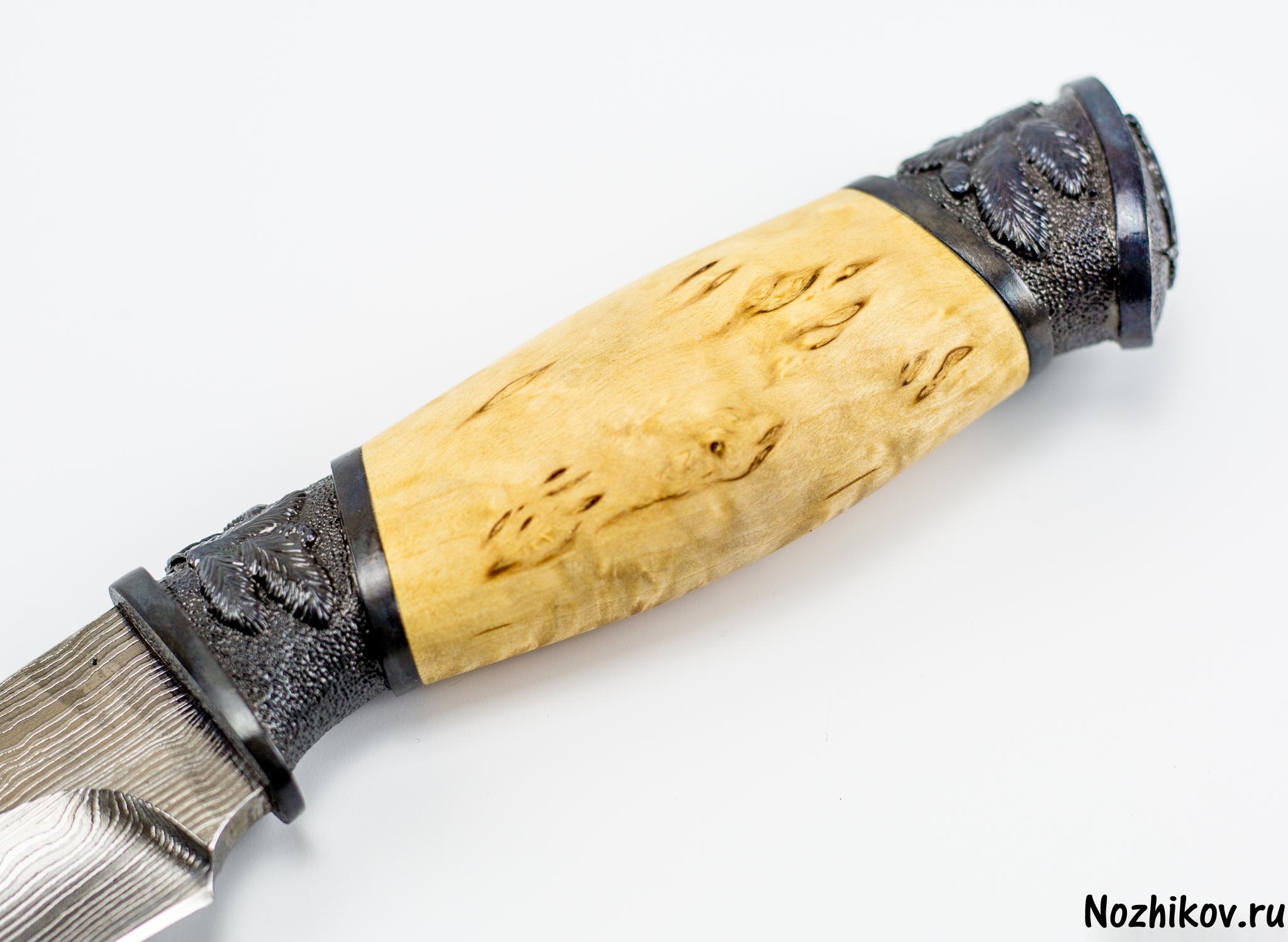 Фото 2 - Авторский Нож из Дамаска №23, Кизляр от Noname
