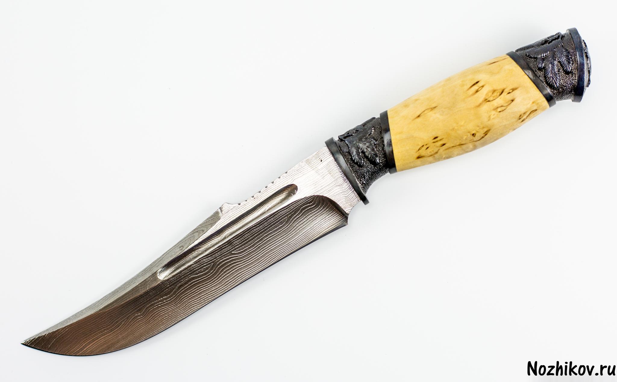 Авторский Нож из Дамаска №23, Кизляр