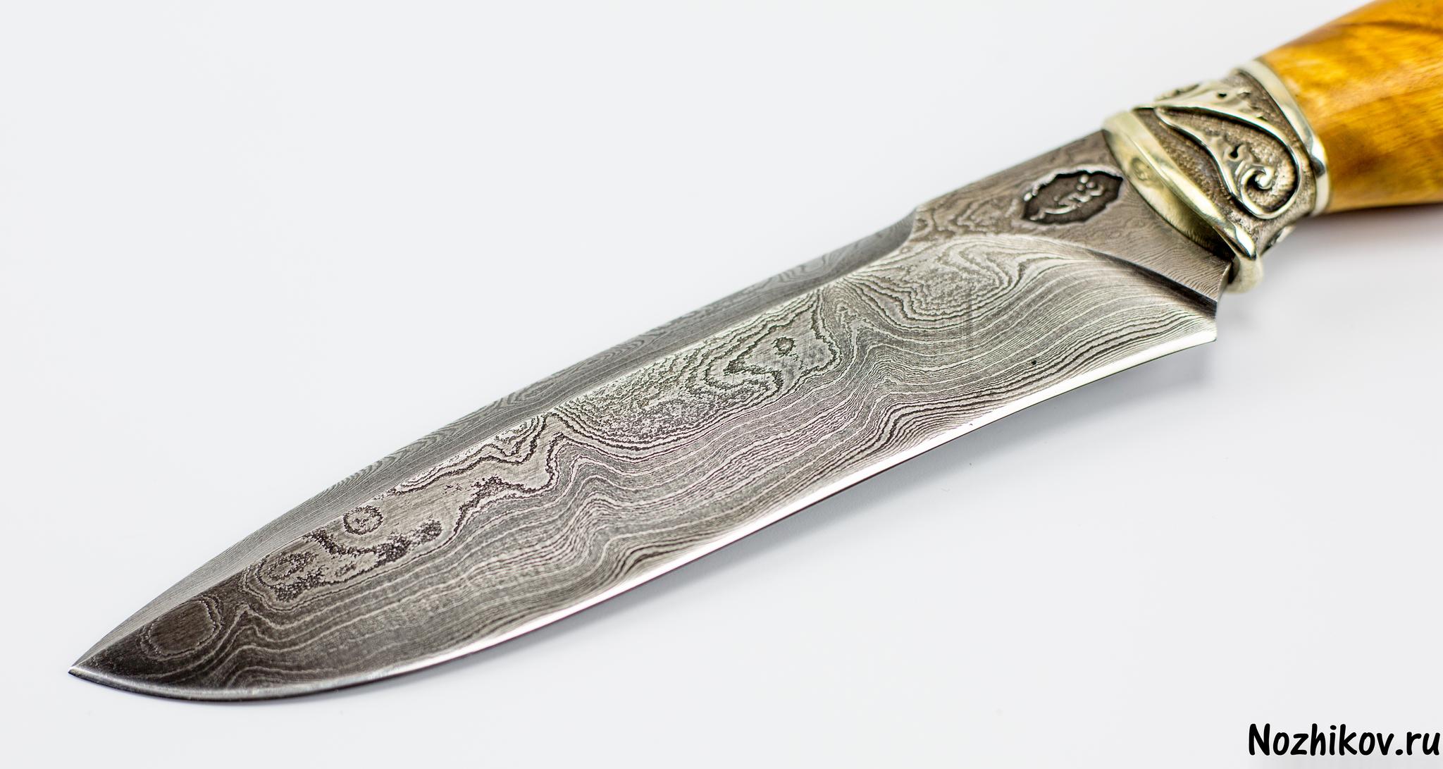 Фото 3 - Авторский Нож из Дамаска №31, Кизляр от Noname