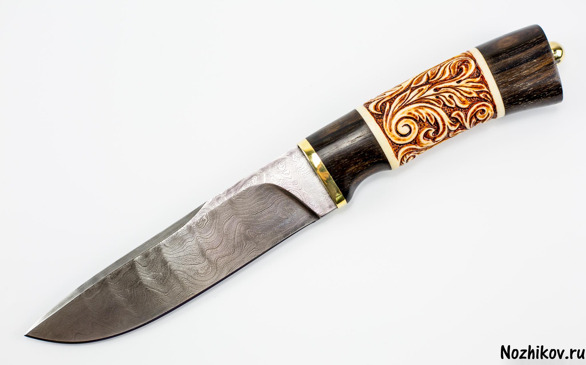 Авторский Нож из Дамаска №6, КизлярНожи Кизляр<br><br>