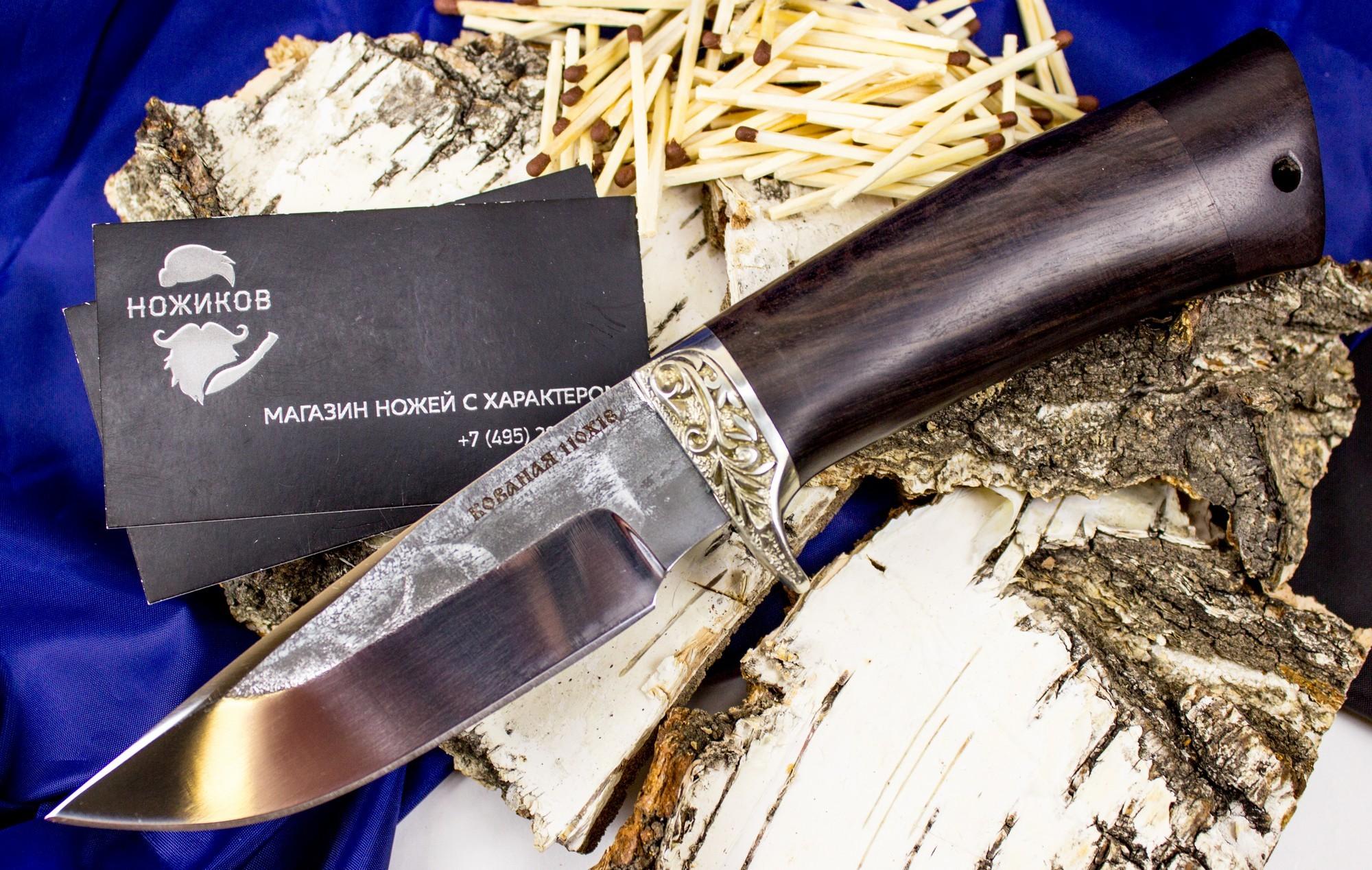 Нож Норвег, сталь 110Х18, мельхиорНожи Ворсма<br>Универсальный нож для рыболовов и туристов. Компактный, рабочий нож, с хорошим клинком практичного исполнения. Хорошо подойдет для частого использования, в любых целях. Клинок выполнен из кованой стали 110х18, с нанесением художественной травления. Нож обладает высокой износостойкостью и очень высокой коррозионной стойкостью.<br>