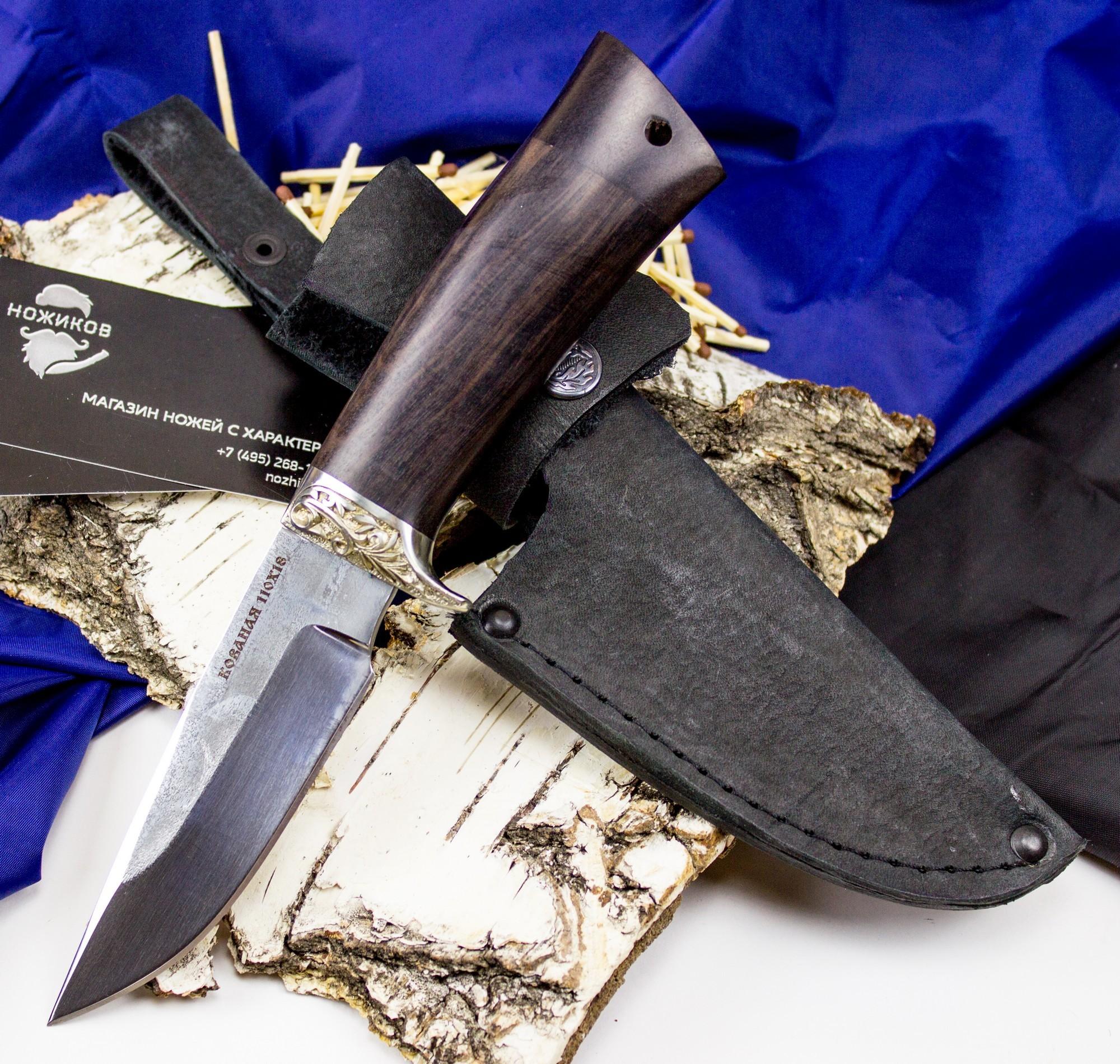 Нож Норвег, сталь Х12МФ, мельхиор