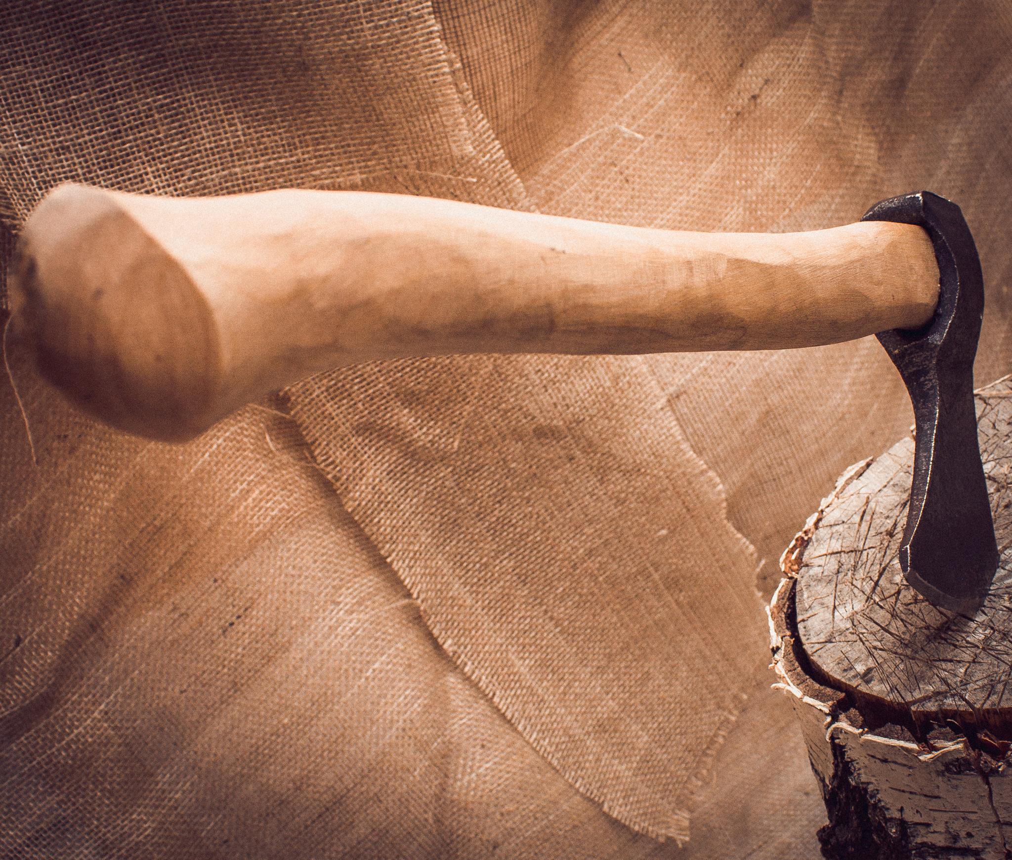 Фото - Кованый топор ручной сборки Олень