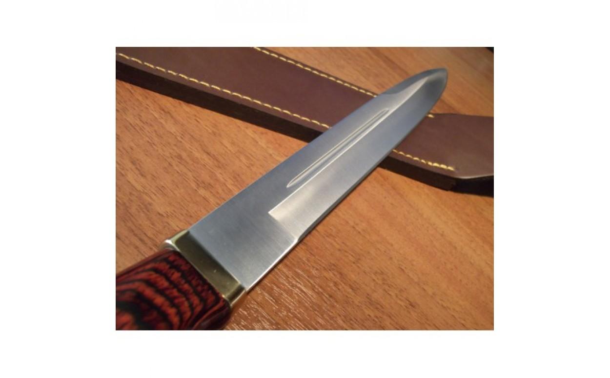 Нож с фиксированным клинком Bowie с чехлом 26.0 см.