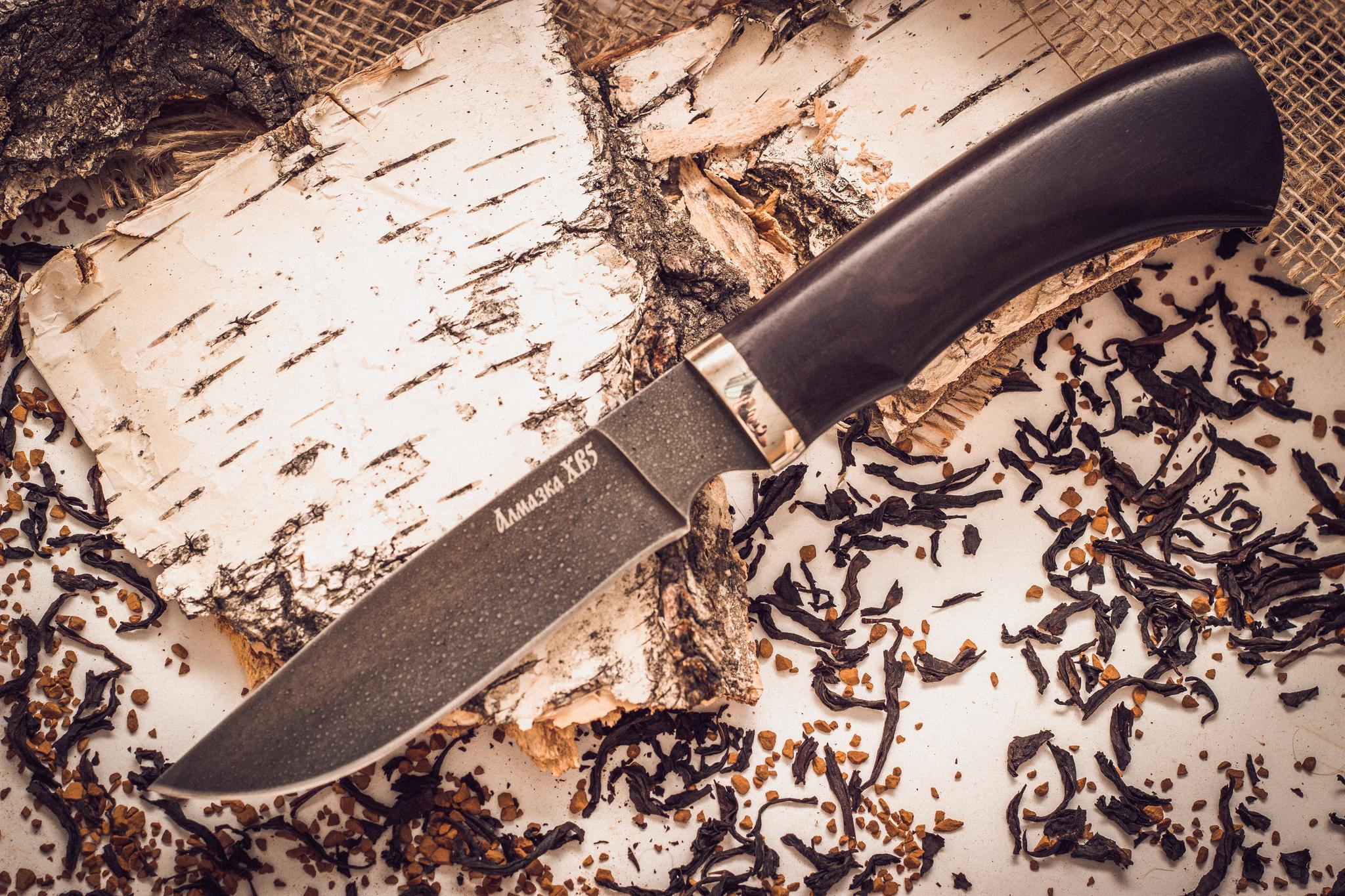 Нож туристический MT-13, алмазка ХВ5Металлист<br>Нож комплектуется кожаными ножнами.<br>