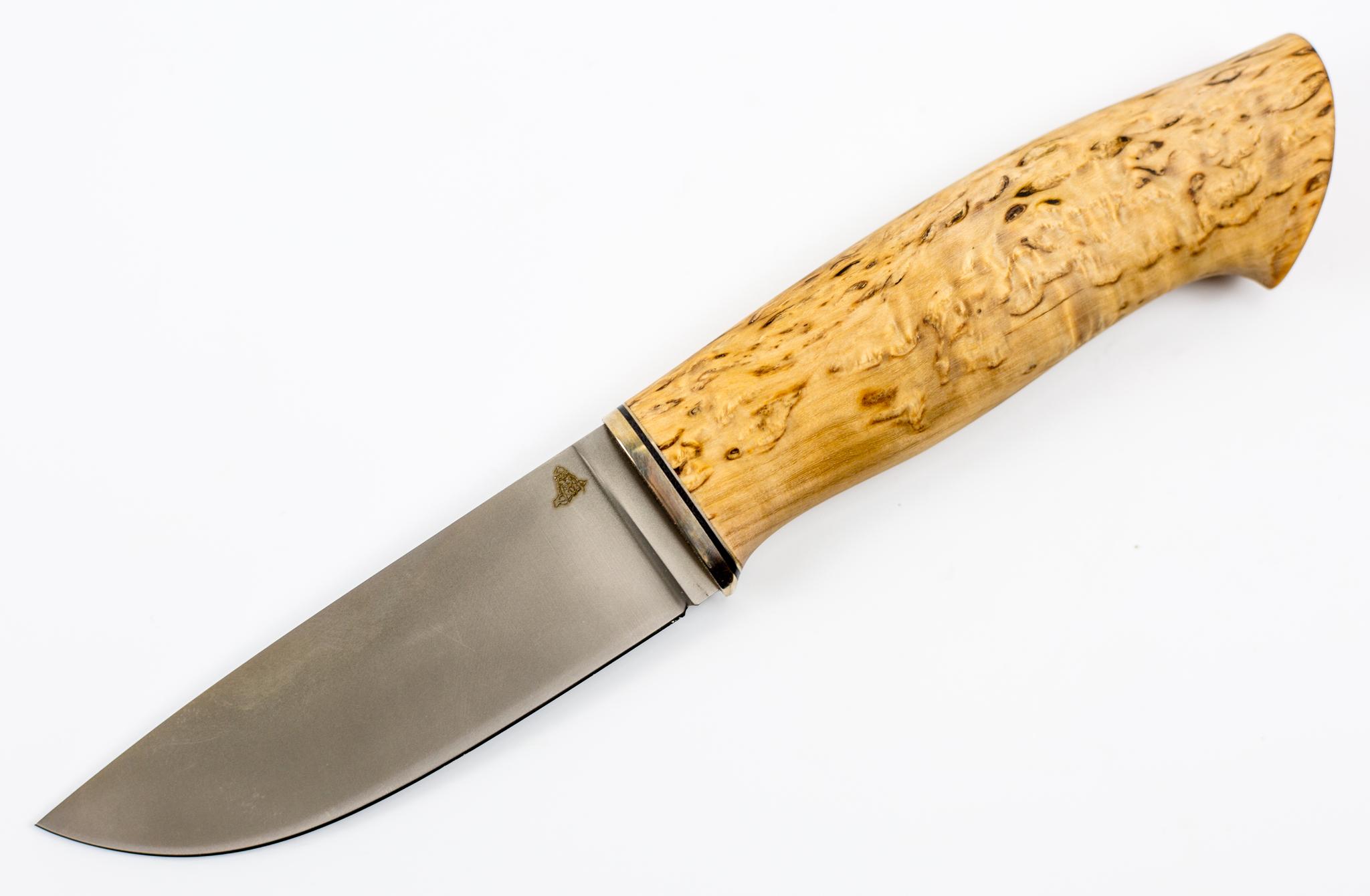 Нож Кроха-4, Vanadis 10, мельхиор, карельская березаНожи Ворсма<br>Нож Кроха<br>