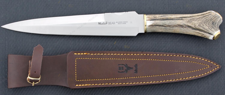 Нож с фиксированным клинком Bear Stag HandleОхотнику<br>Нож с фиксированным клинком Bear Stag Handle<br>