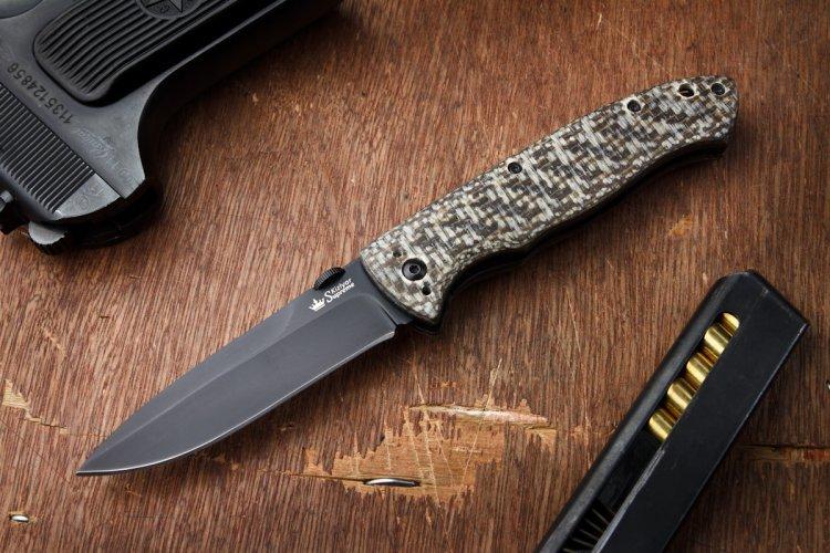 Складной нож Vega 440C Black
