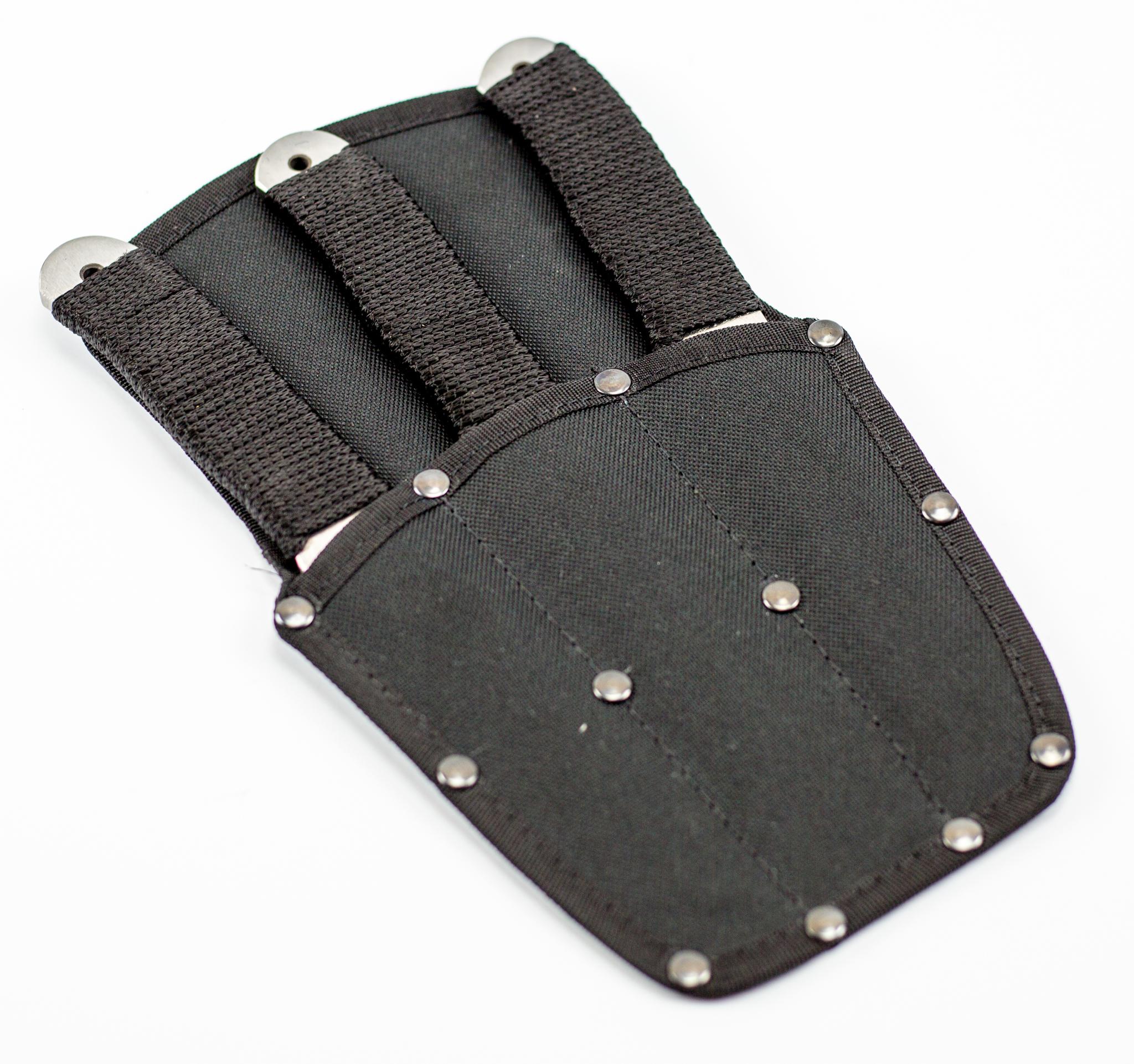 """Набор метательных ножей из 3-ех штук """"Тайга"""" 65х13, с веревочной намоткой"""