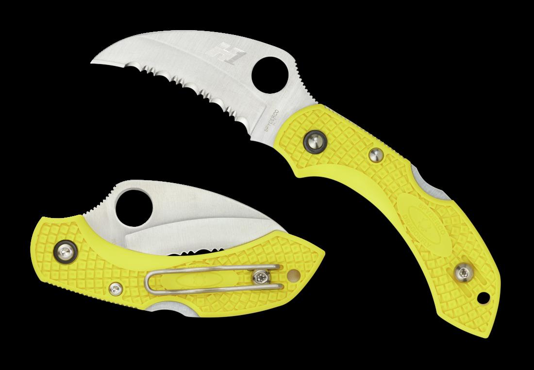 Складной нож Spyderco Dragonfly 2 spyderco police full serrated edge
