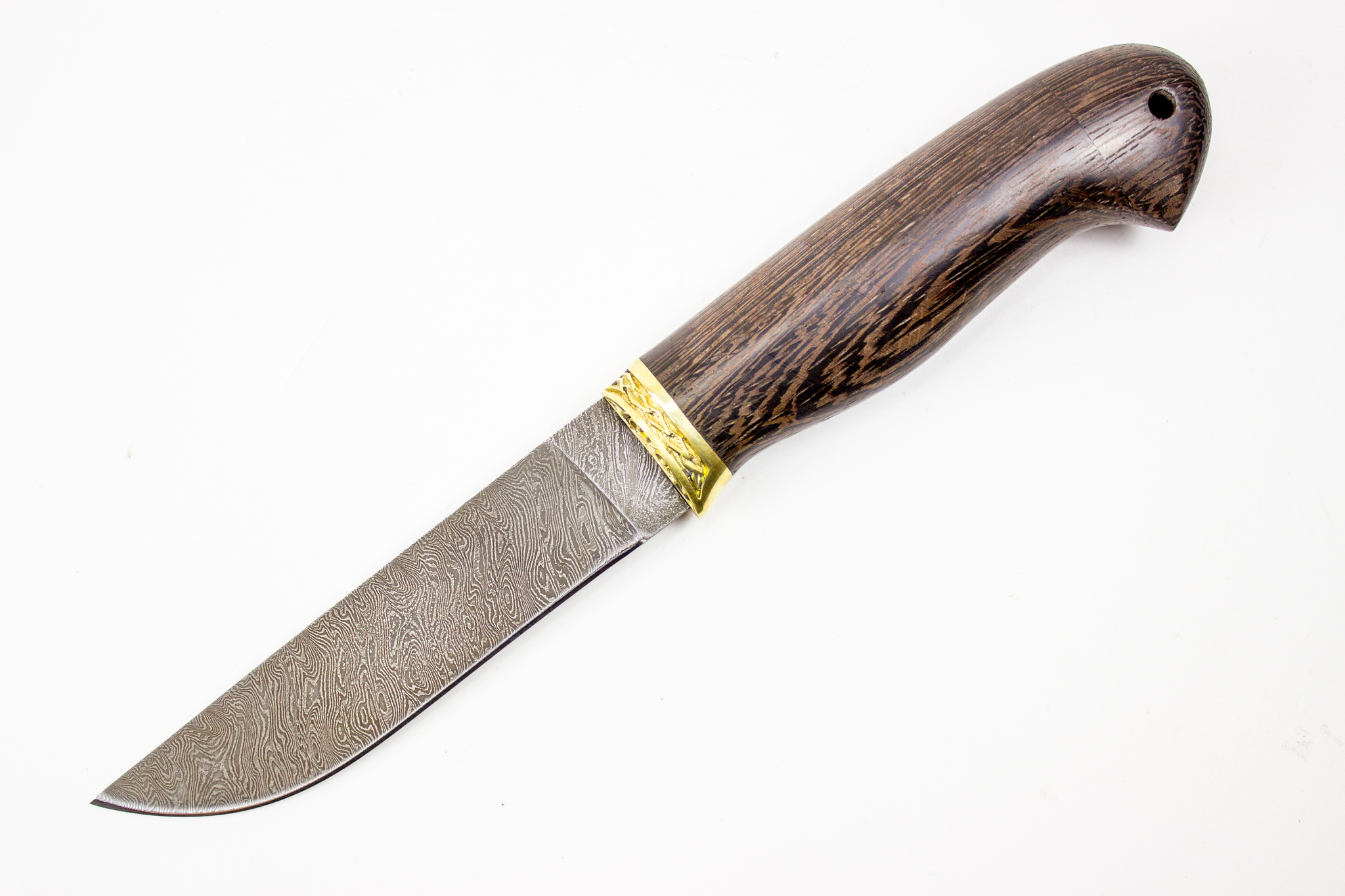 Кованый нож из дамаска «Финский»