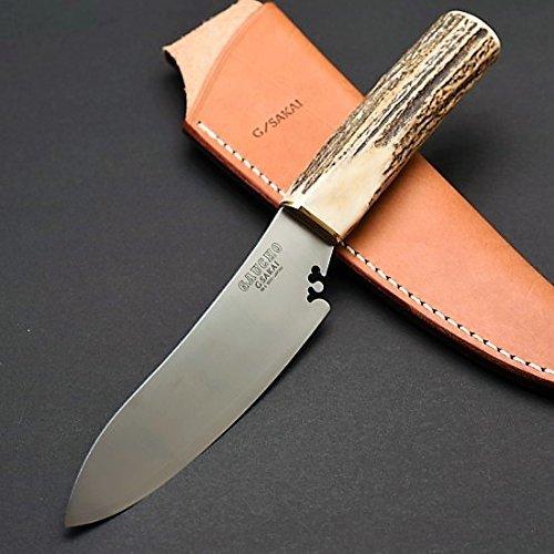 Фото 4 - Туристический нож G.Sakai, Gaucho Facon Fixed, VG-1 (laminated), рог оленя