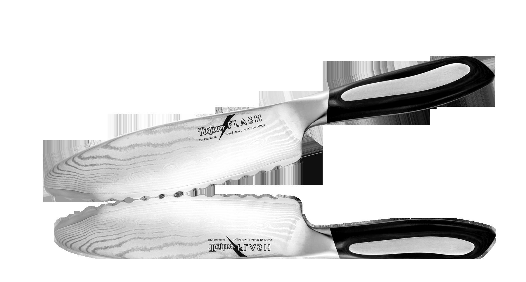Нож-серрейтор Универсальный Tojiro Flash 150 мм, сталь VG-10