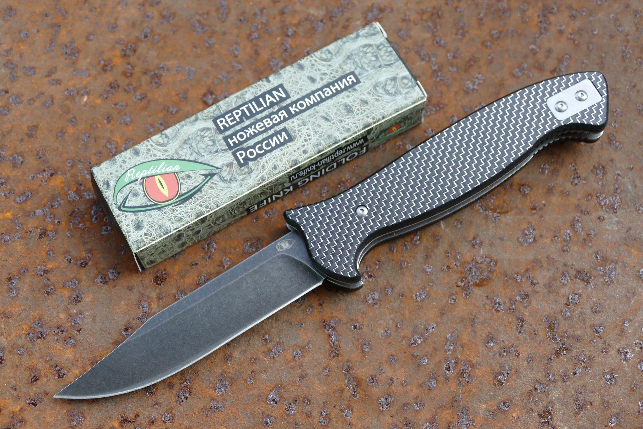 Складной Нож Разведчика, карбон сереброРаскладные ножи<br>марка стали: D2твёрдость: HRC60-61длина общая: 255ммдлина клинка: 113ммширина клинка наибольшая: 25ммтолщина обуха: 3.5ммобработка клинка: black stonewashвес: 217гр<br>