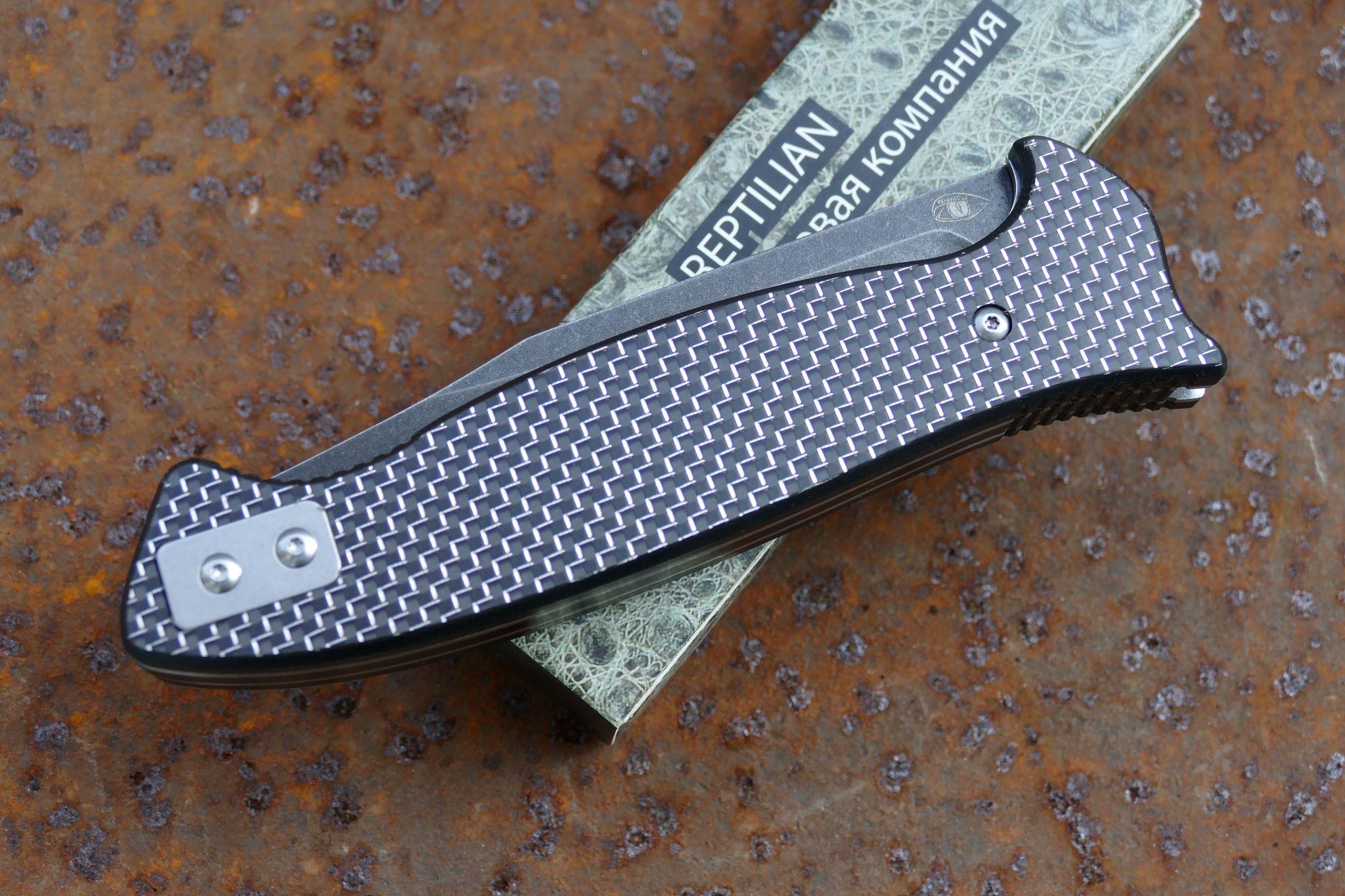 Складной Нож Разведчика, карбон серебро