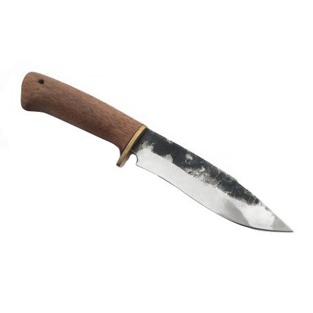 Нож Зубр, кованыйНожи Ворсма<br>Сталь:кованая 95х18<br>Общая длина, мм: 265<br>Длина клинка, мм: 140<br>Длина рукояти, мм: 125<br>Толщина обуха, мм: 2,2<br>Максимальная ширина клинка, мм: 37,5<br>Твёрдость клинка: HRC – 59<br>