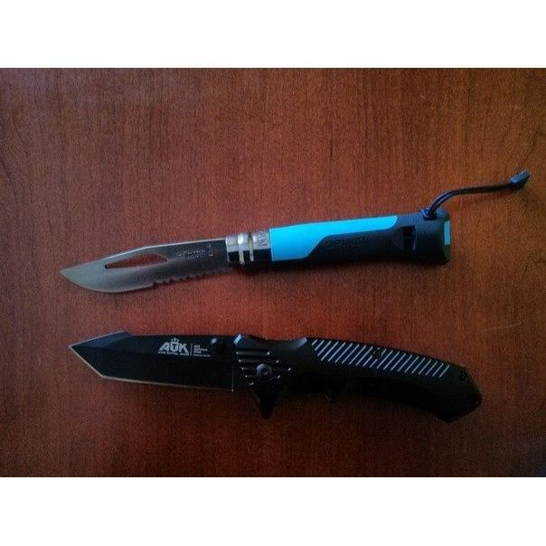 Фото 3 - Складной Нож Opinel №8 VRI OUTDOOR EARTH, нержавеющая сталь Sandvik 12C27, синий, 001576