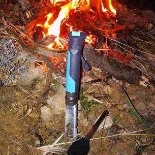 Фото 4 - Складной Нож Opinel №8 VRI OUTDOOR EARTH, нержавеющая сталь Sandvik 12C27, синий, 001576