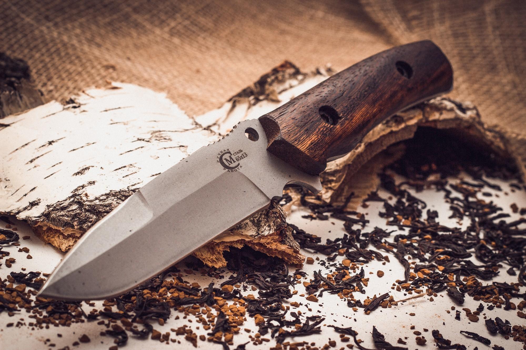 Фото 2 - Нож «Сапер», сталь 65х13 от Кузница Семина