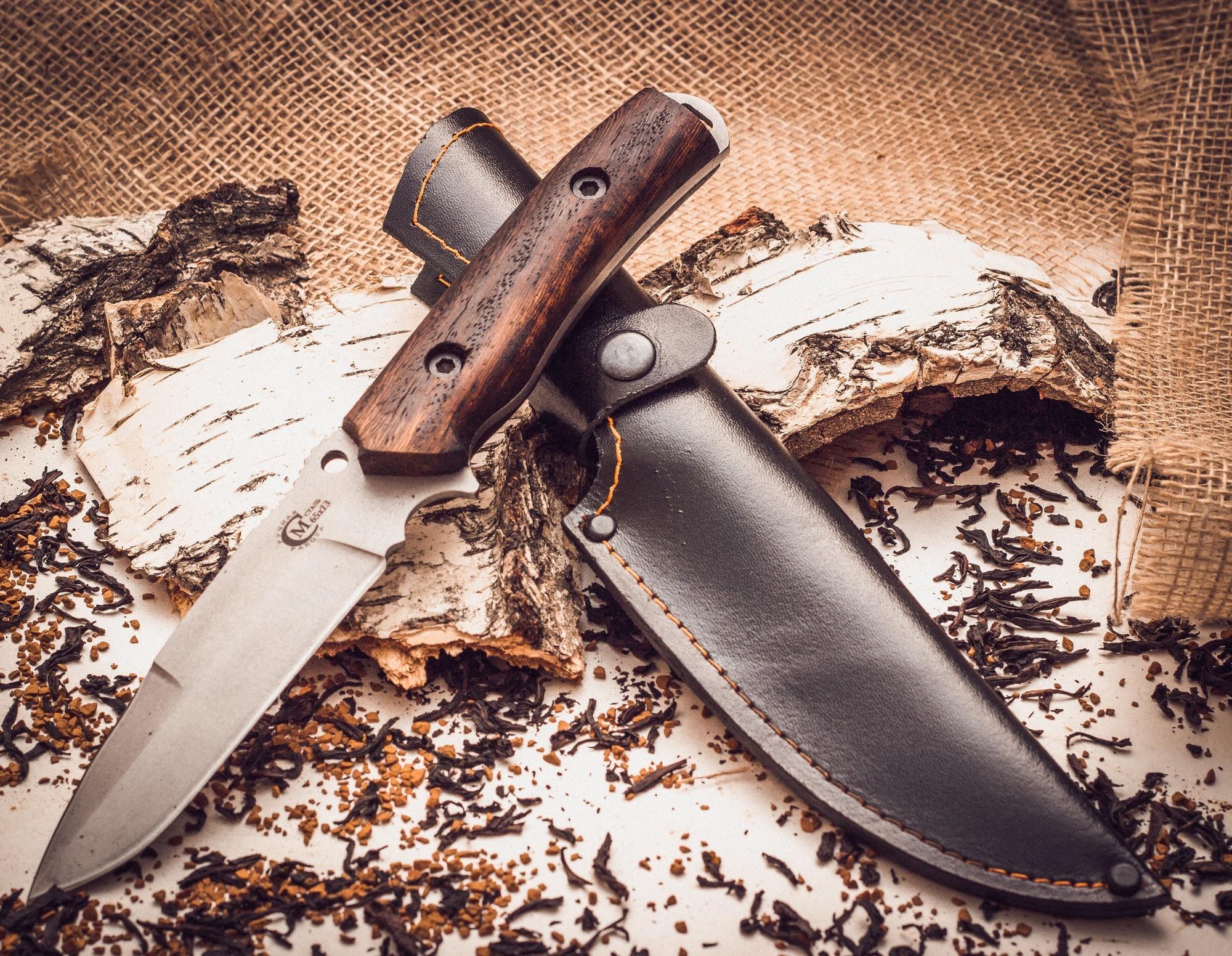 Фото 4 - Нож «Сапер», сталь 65х13 от Кузница Семина