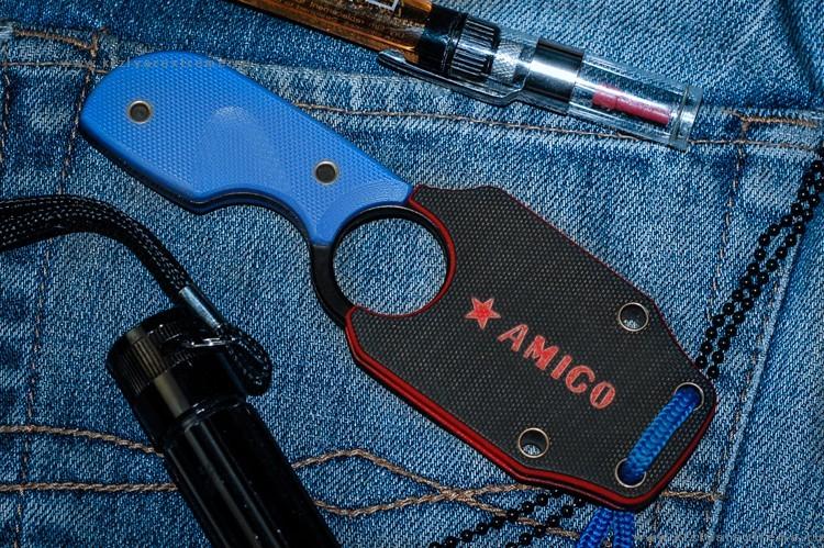 Фото 2 - Шейный нож Amigo Z D2 BT, Кизляр от Kizlyar Supreme