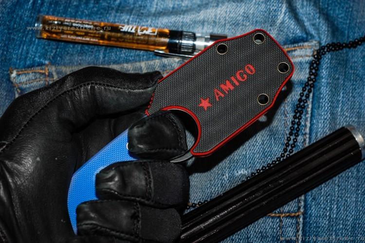 Фото 3 - Шейный нож Amigo Z D2 BT, Кизляр от Kizlyar Supreme